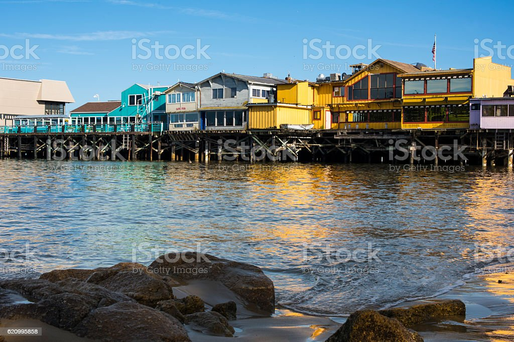 Old Fisherman's Wharf, Monterey, California stock photo