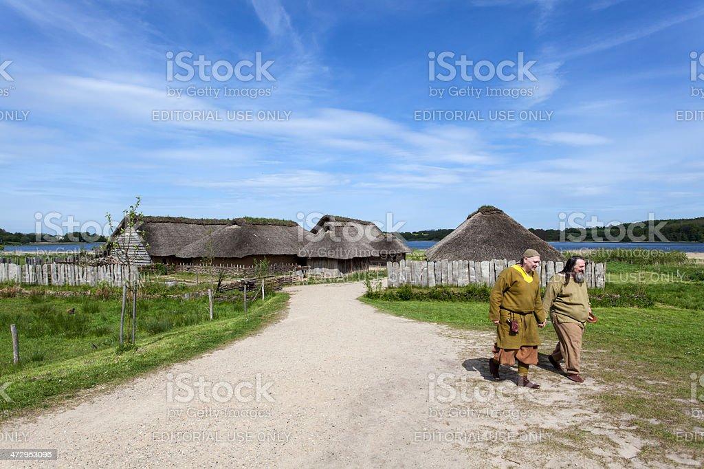 Old fishermens village, Haithabu - Baltic Sea stock photo