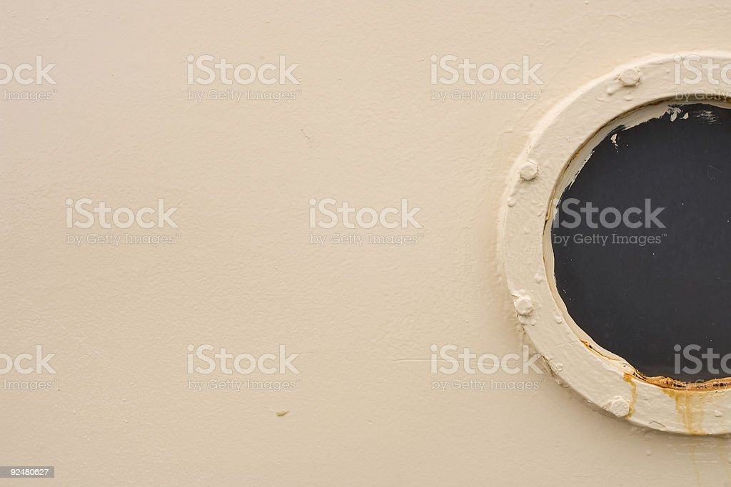 Old fishing boat window royalty-free stock photo