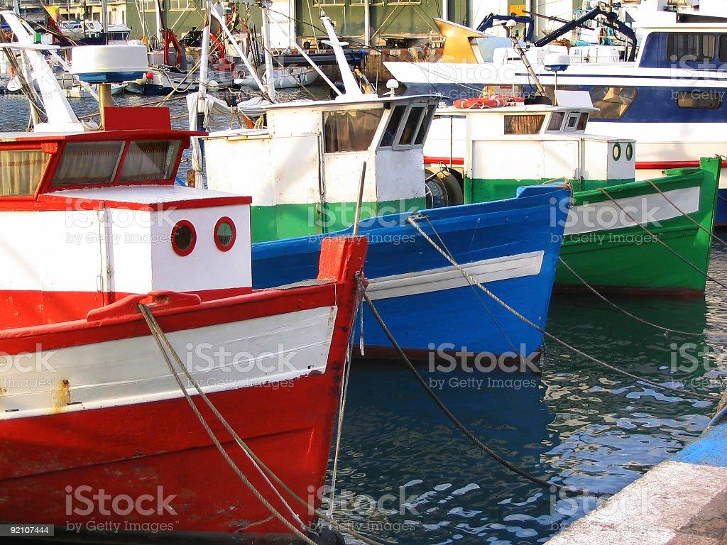Old fishing boats royalty-free stock photo