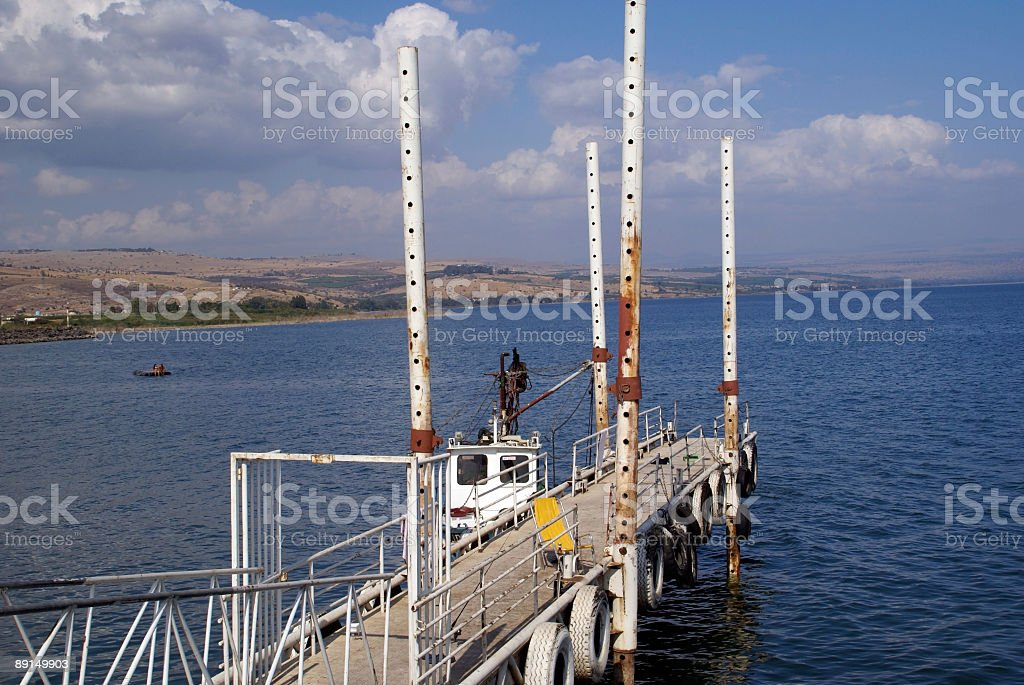 Old Fishing Dock Sea of Galilee royalty-free stock photo