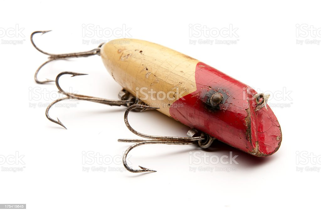 Old Fishing Lure royalty-free stock photo