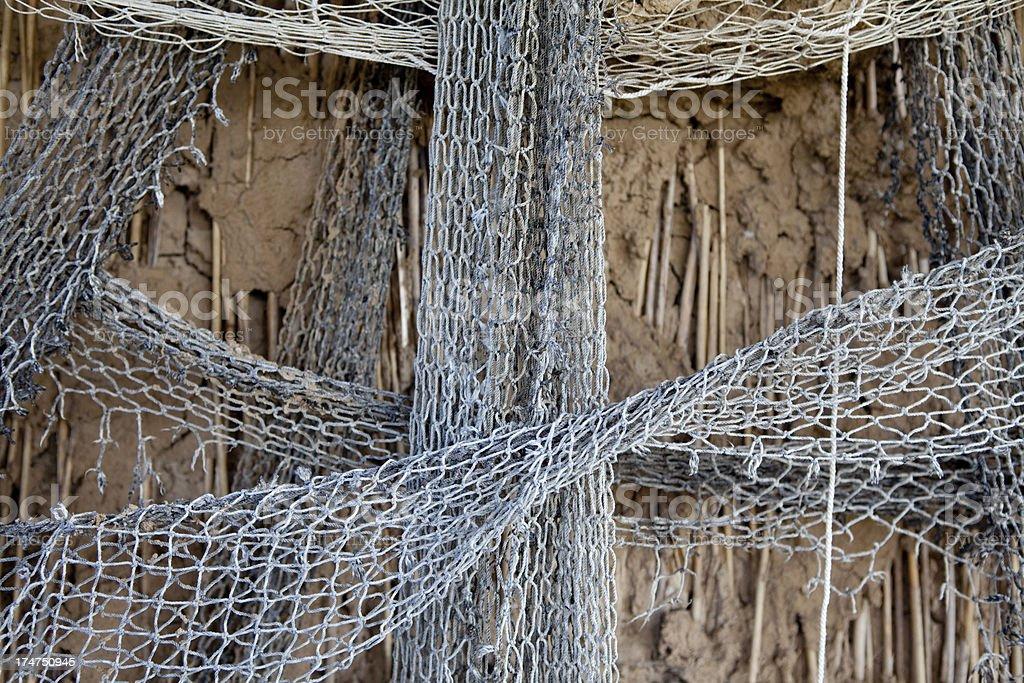 Old fishing net XXXL royalty-free stock photo