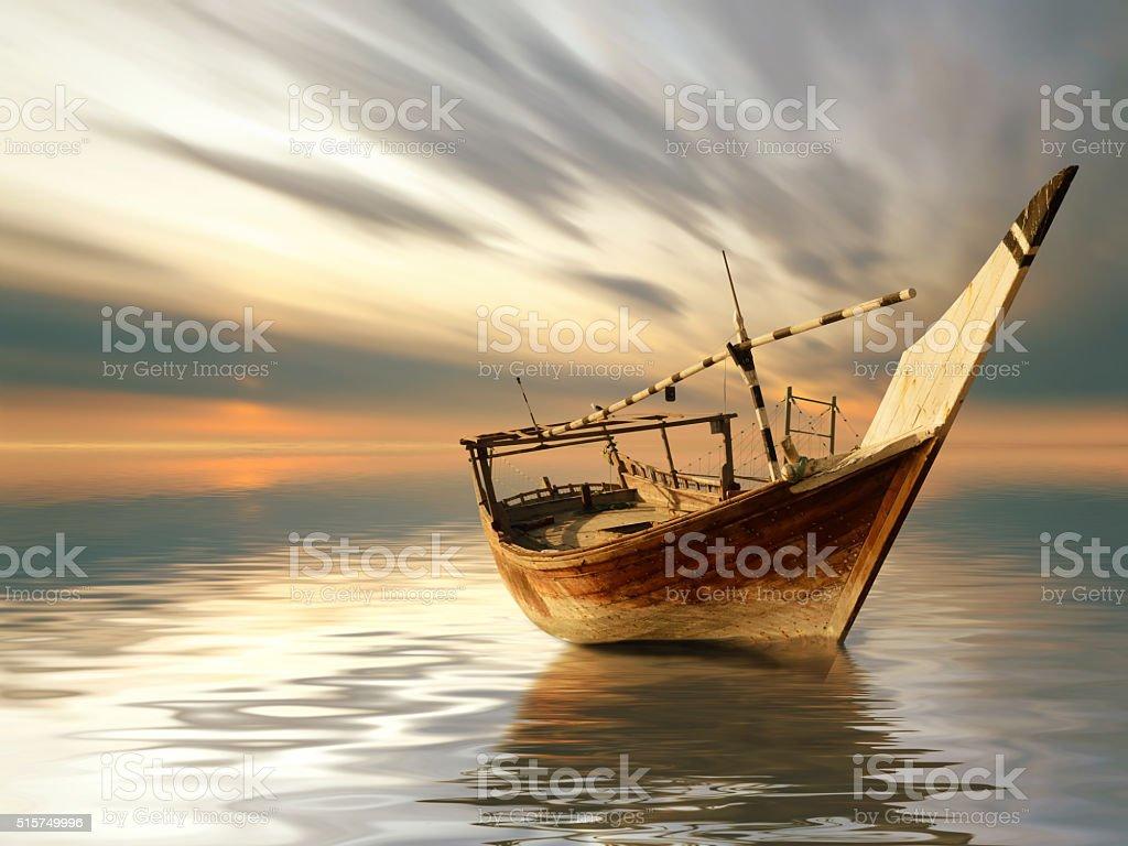 old fishing ship stock photo