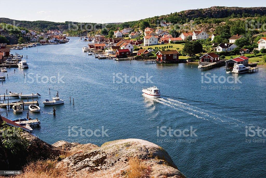 Old fishing village stock photo