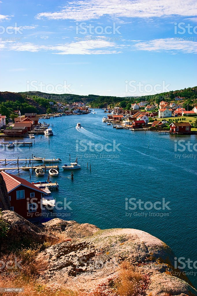 Old fishing village royalty-free stock photo