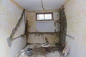 old flat during renovation