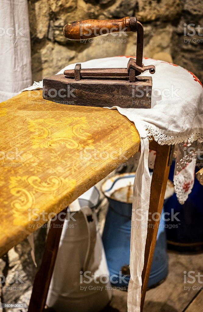 old flat iron stock photo