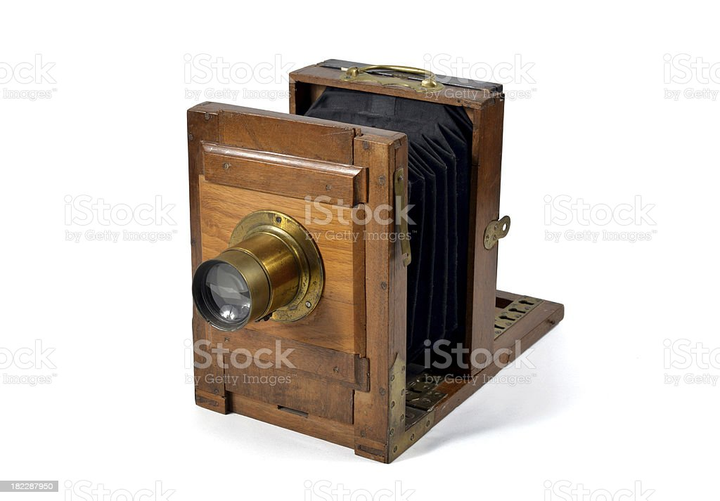 old  flding camera royalty-free stock photo