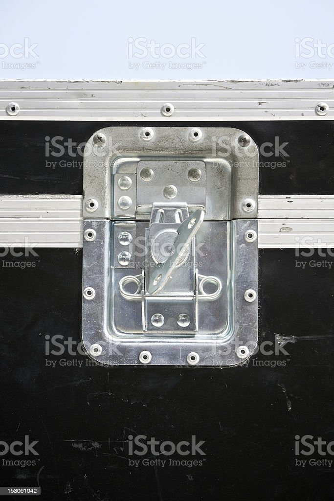 old flight case lock stock photo