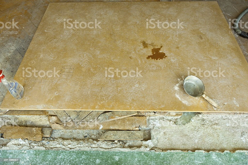 Old Floor Before Addition royalty-free stock photo