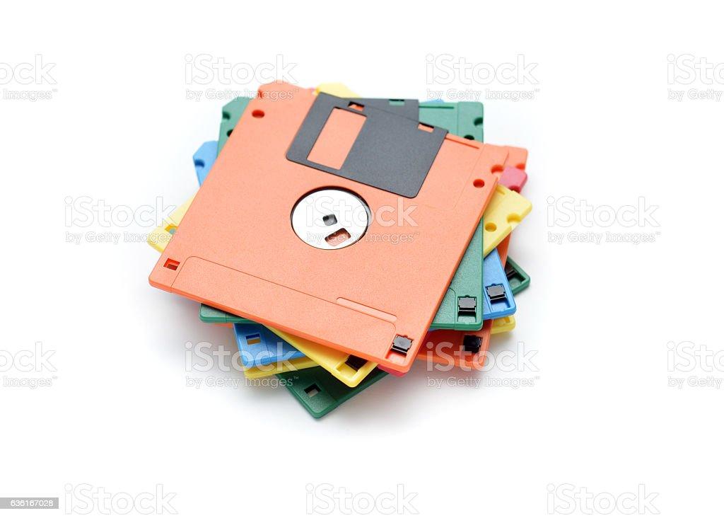 Old Floppy Disks stock photo
