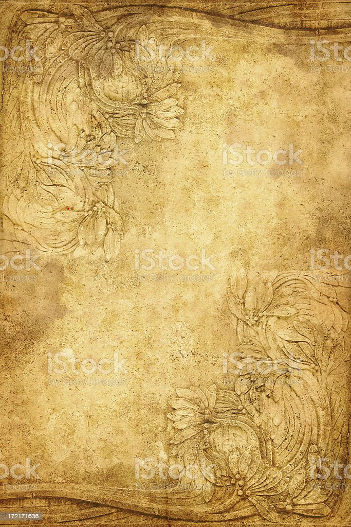 old floral secessionist ornament royalty-free stock photo