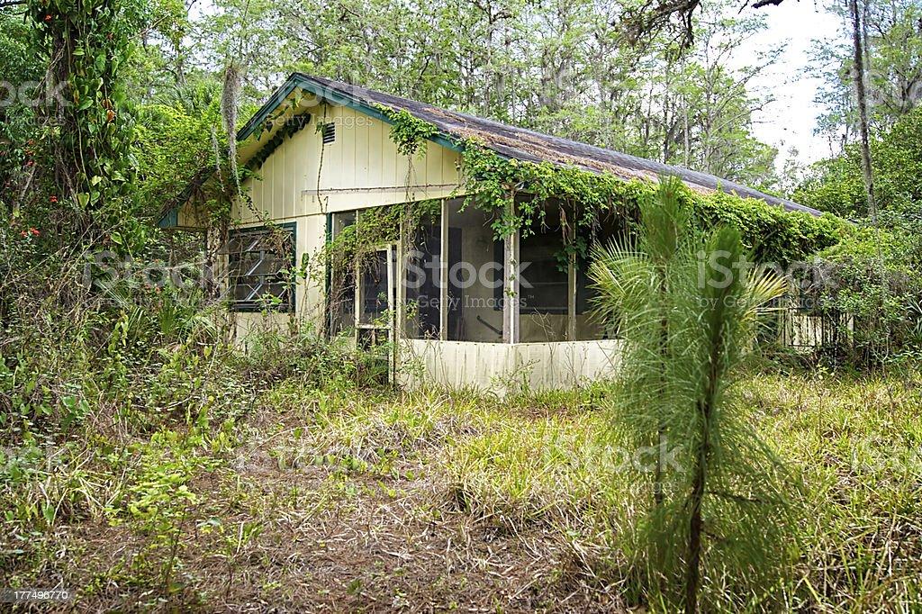old florida abandoned house stock photo