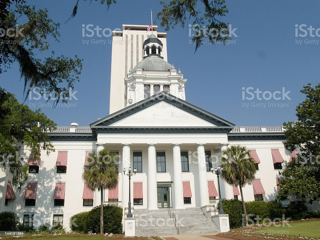 Old Florida Capitol royalty-free stock photo