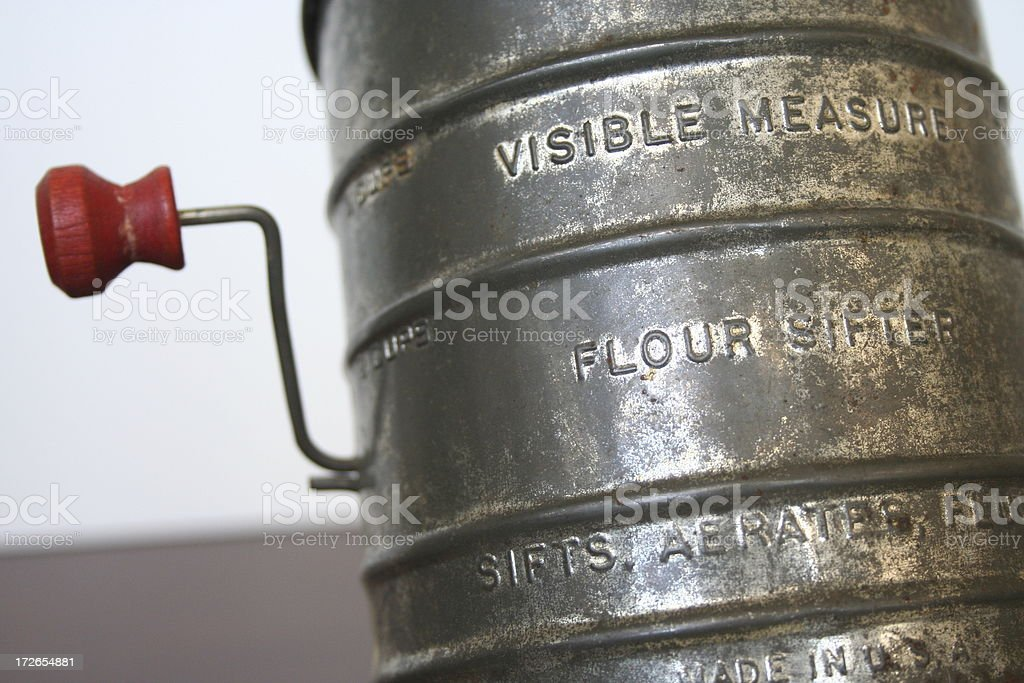 Old Flour Sifter stock photo