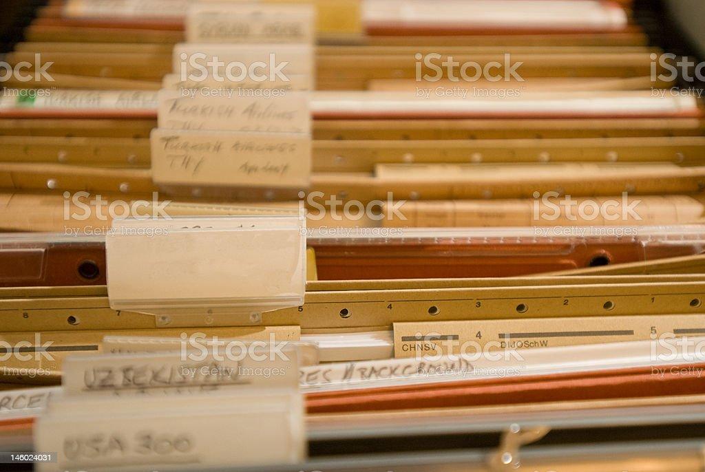 Old folder cabinet stock photo