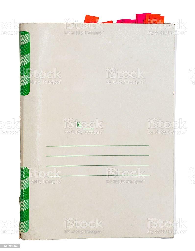 Old folder royalty-free stock photo