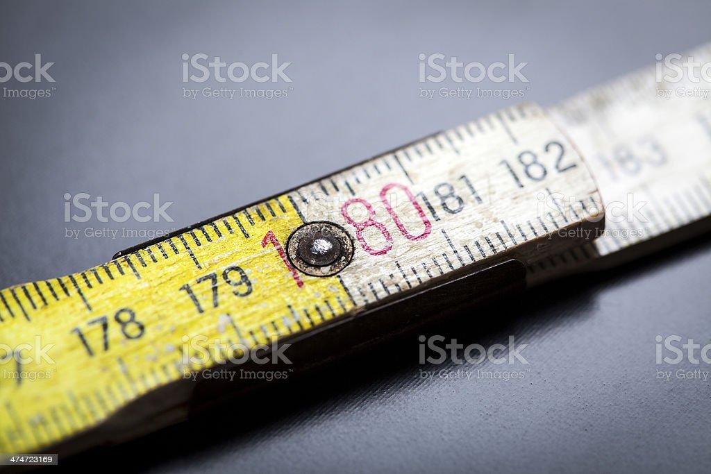 Old folding ruler stock photo