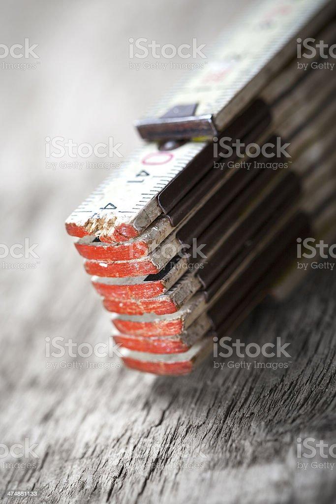 Old folding ruler royalty-free stock photo