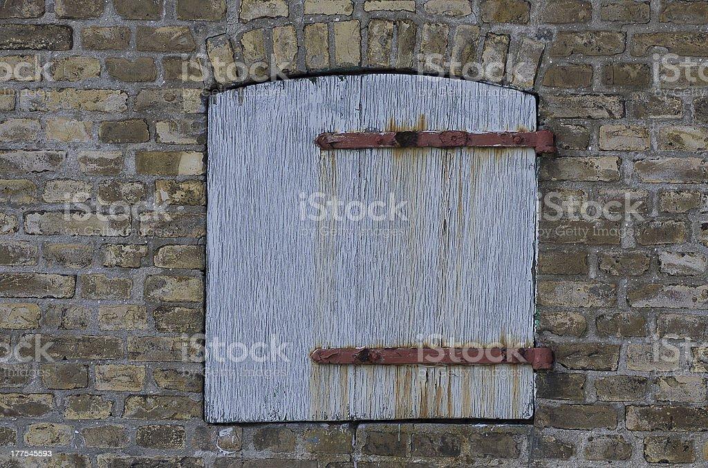 Old Folding Shutter royalty-free stock photo