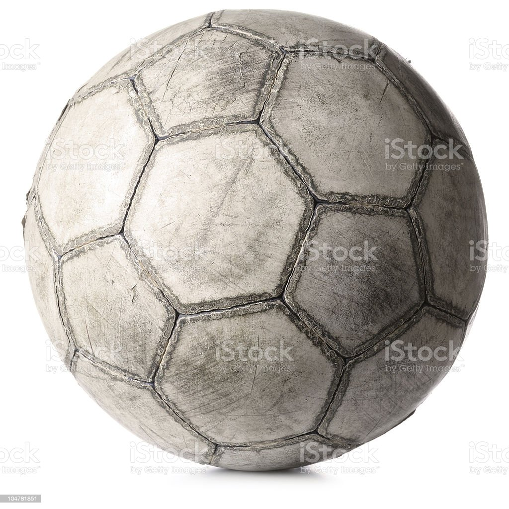 old football ball isolated on white royalty-free stock photo
