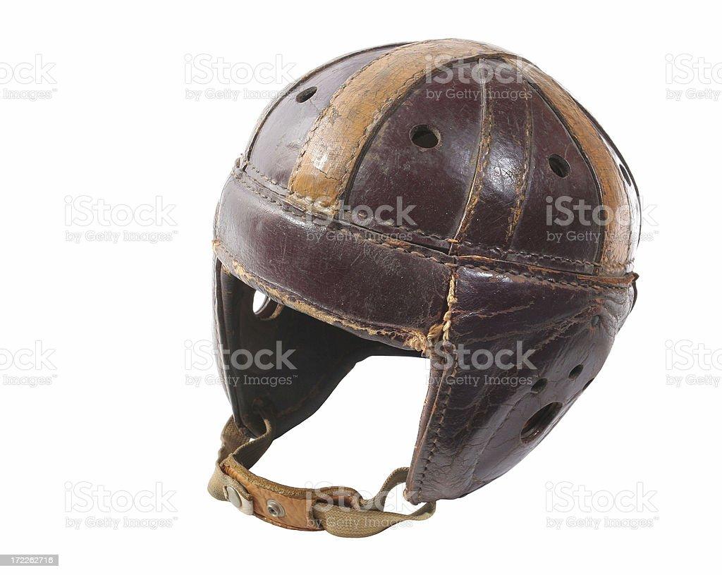 Old Football Helmet stock photo