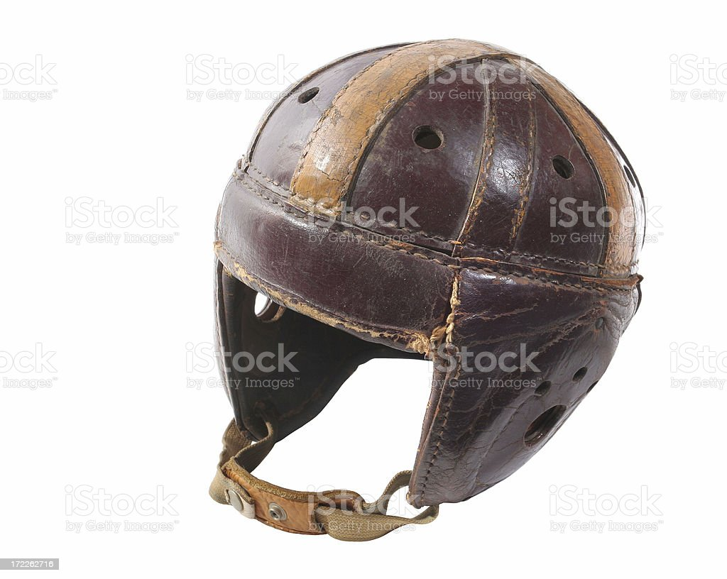 Old Football Helmet stock photo