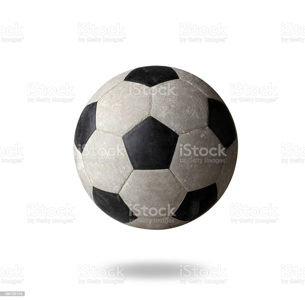 Old football the sporting goods isolated royalty-free stock photo