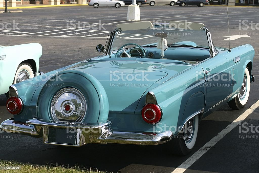 Old Ford Thunderbird royalty-free stock photo