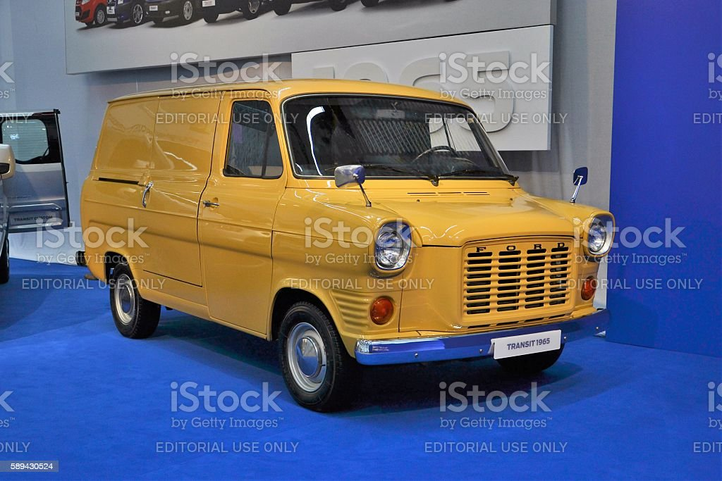 Old Ford Transit stock photo
