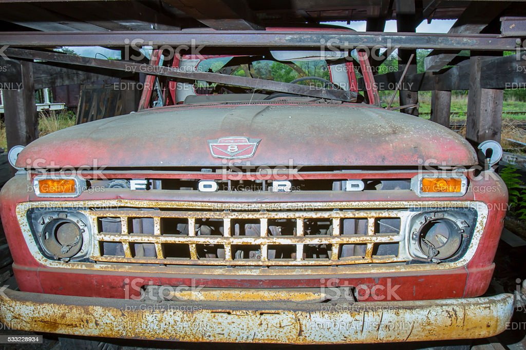 Old Ford truck stock photo