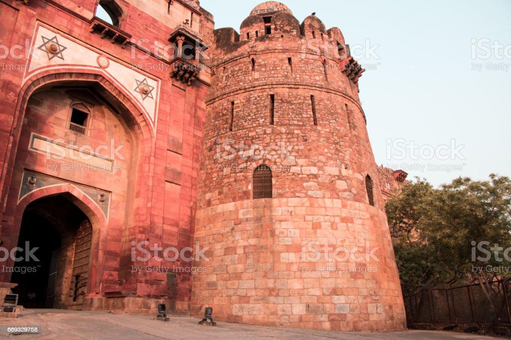 Old Fort Delhi India stock photo