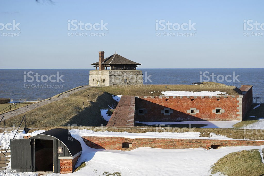 Old Fort Niagara, New York State and Ontario. royalty-free stock photo