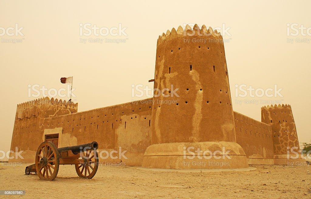 Old fort, Qatar stock photo