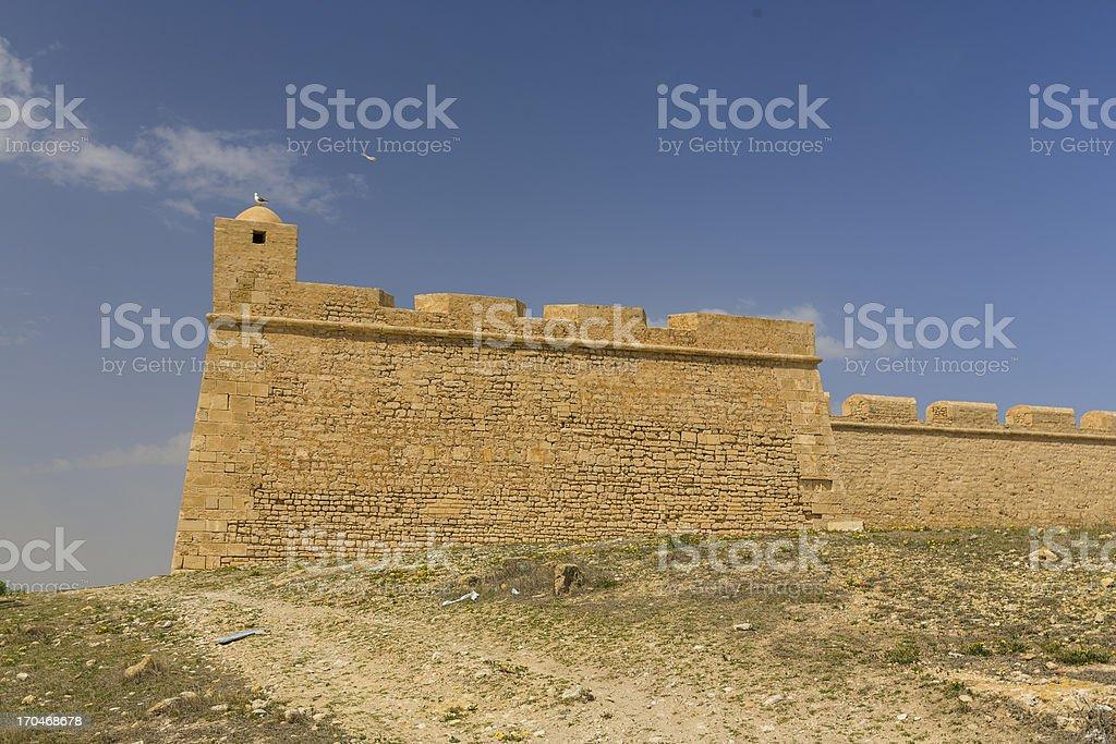 Old Fortess ruin in Mahdia Tunis royalty-free stock photo