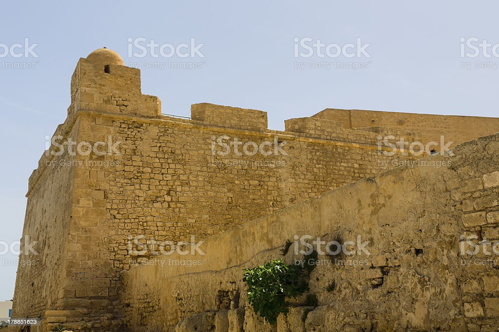 Old Fortess ruin in Mahdia Tunis royalty-free stock photo