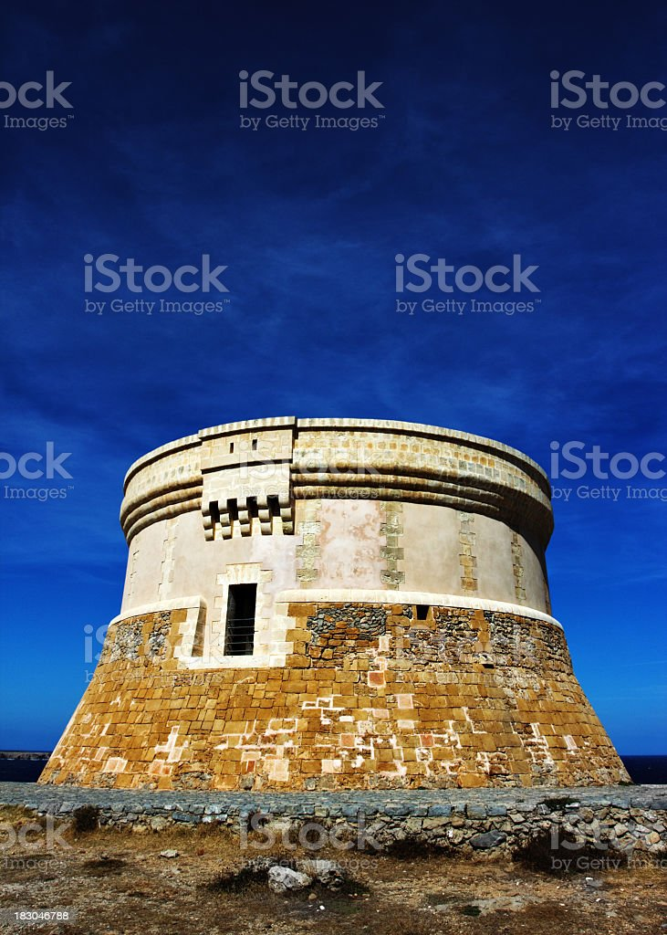 Old fortified watchtower royalty-free stock photo