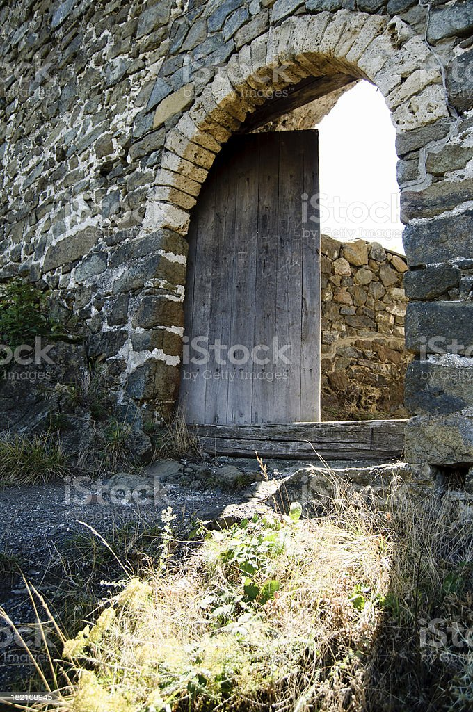 Old fortress door royalty-free stock photo