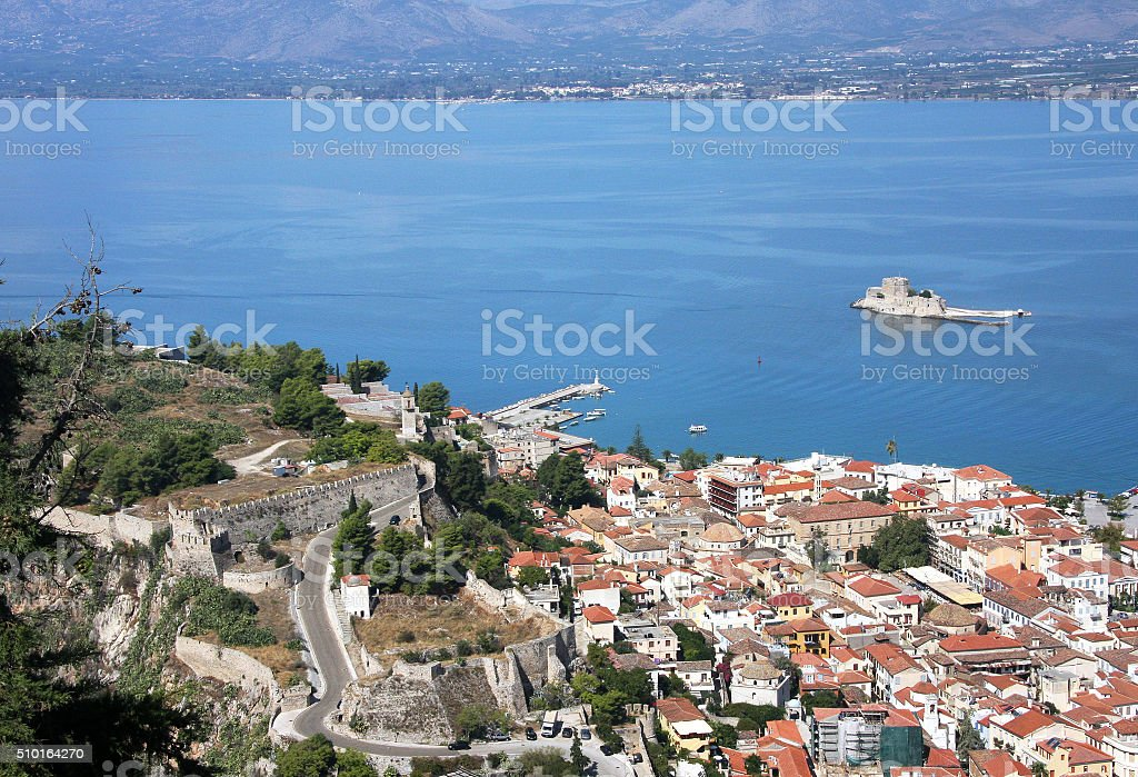Old fortress in Nafplion stock photo