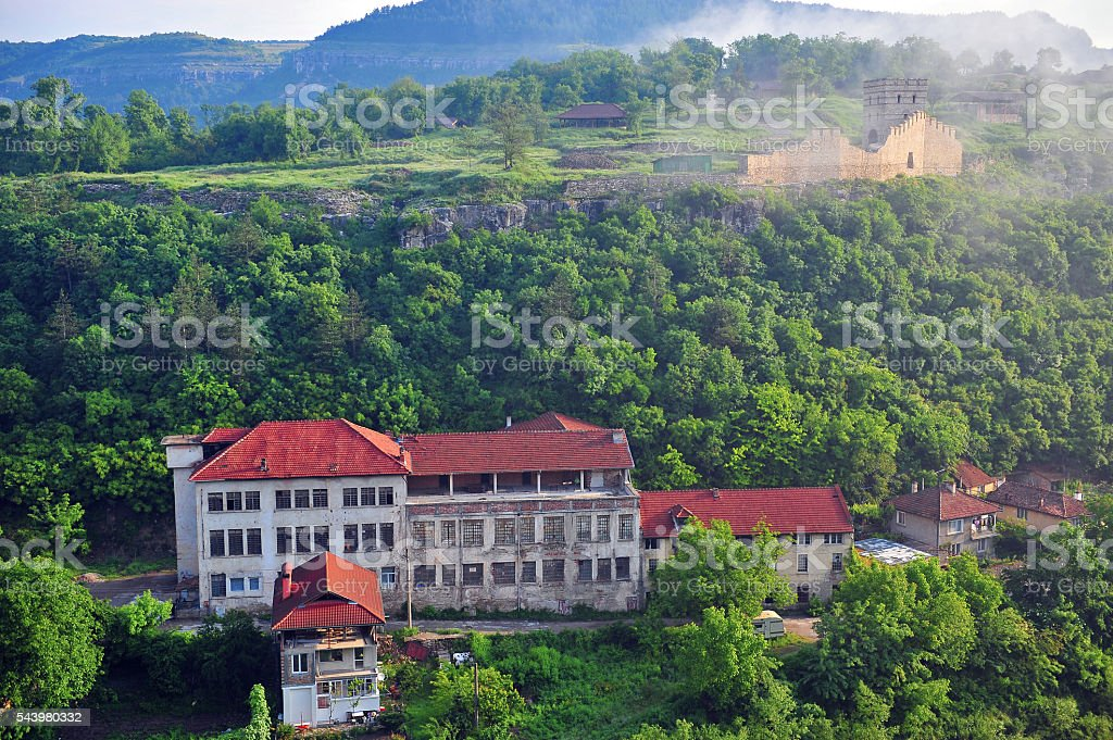 Old fortress of Veliko Tarnovo town stock photo