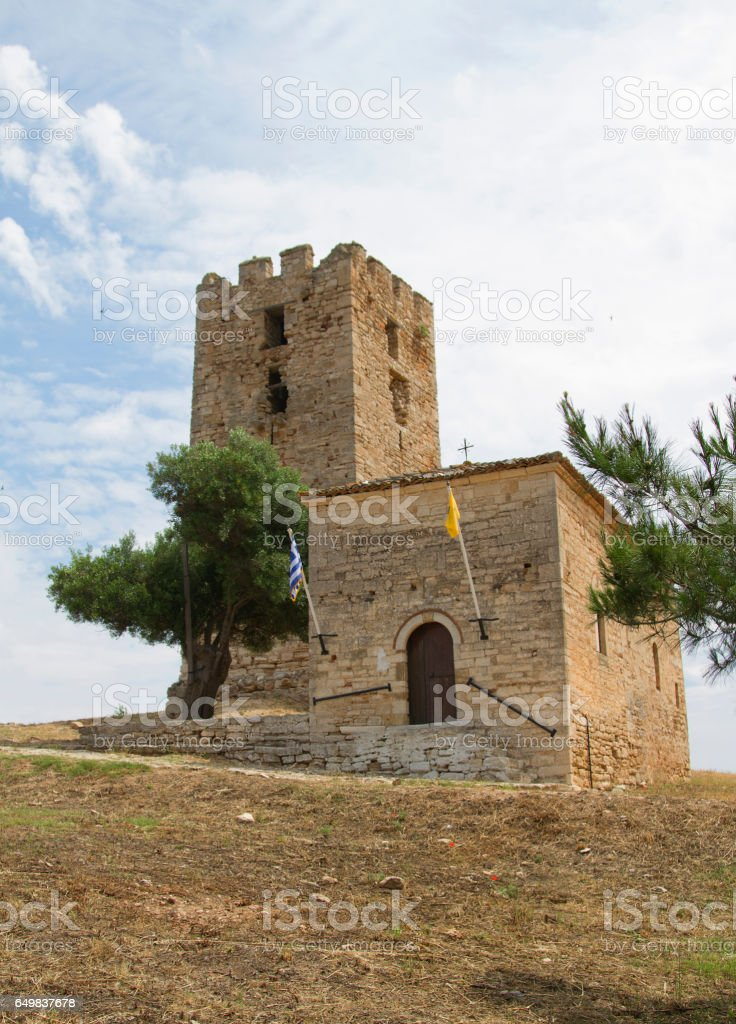 old fortress tower stock photo