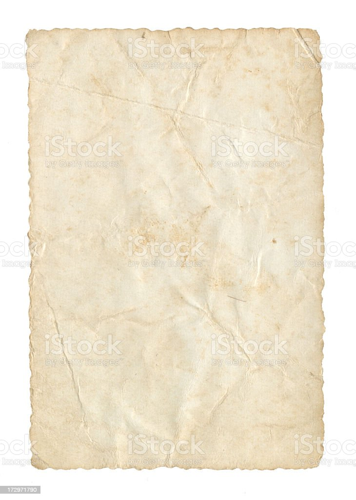 Old Foto Paper  Isolated on White XXL royalty-free stock photo
