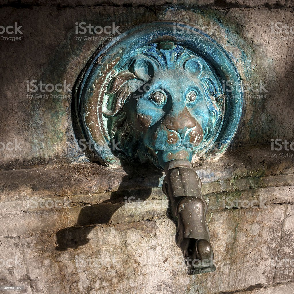Old fountain head royalty-free stock photo