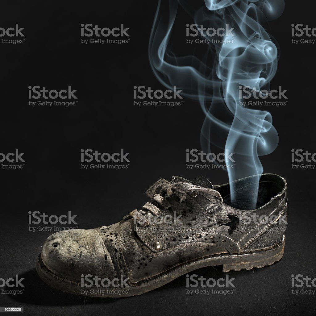 Old fragmentary boot royalty-free stock photo