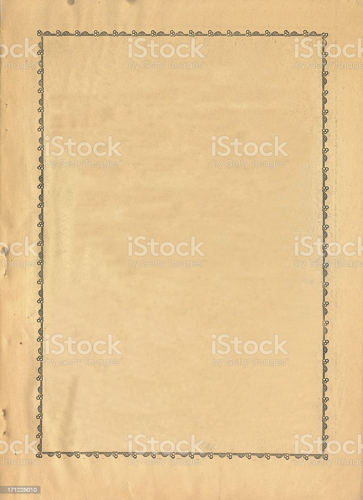 Old frame paper royalty-free stock photo