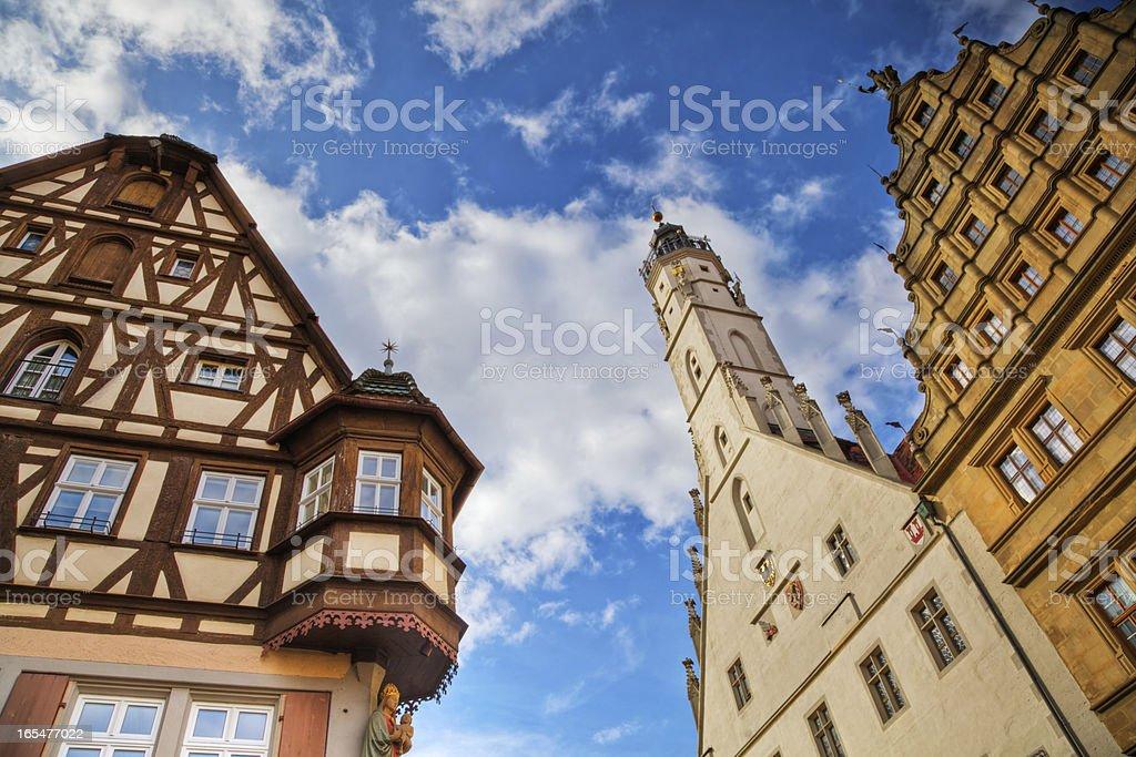 old framework houses in Rothenburg royalty-free stock photo