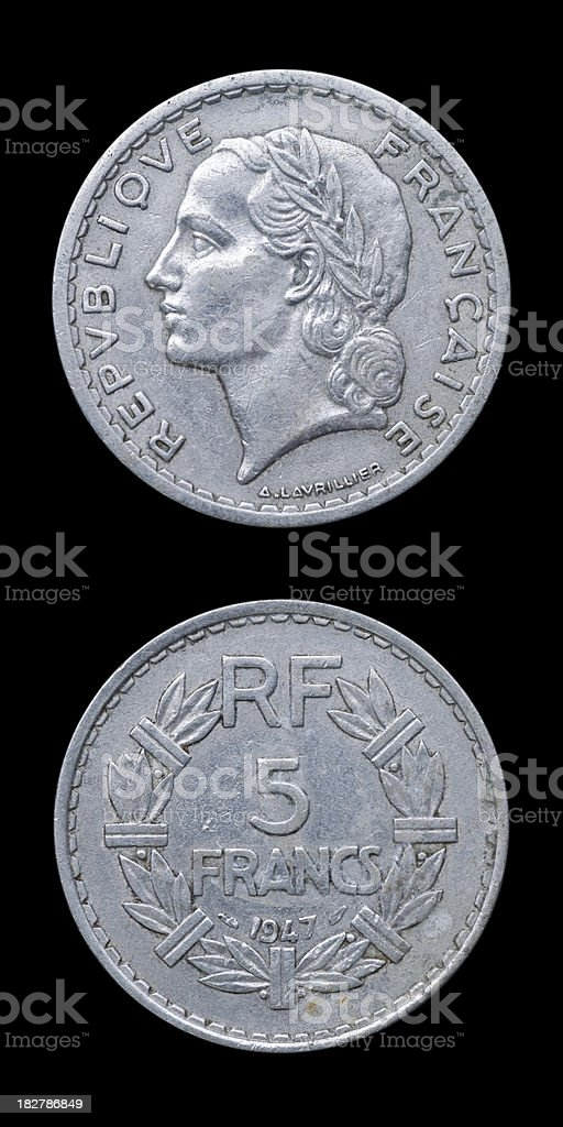 Old French Coin royalty-free stock photo