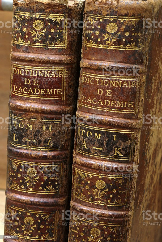Old french dictionary royalty-free stock photo