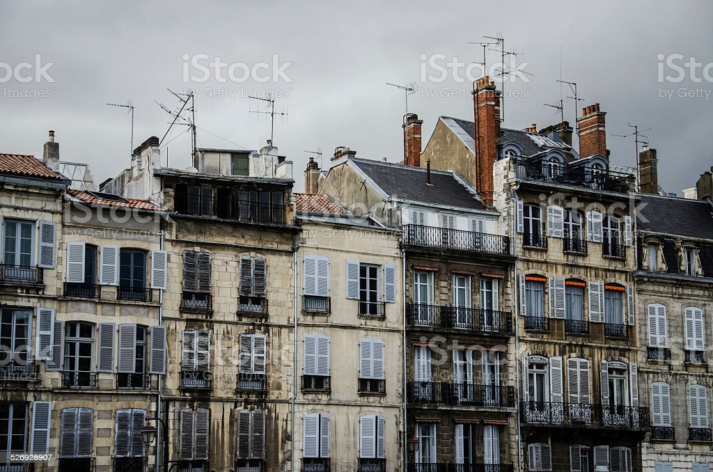 Old french houses stock photo